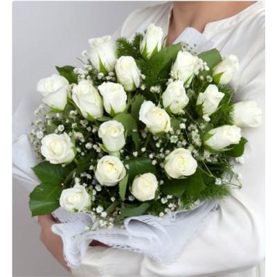 Sonsuz Sevgi 19 Beyaz Gül