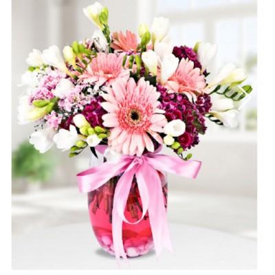 Vazolu Karışık Çiçek